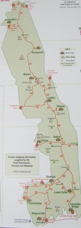 Kruger National Park Rest Camps and Trails