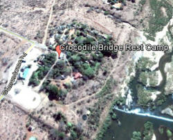 Croc Bridge Camp via Google Earth