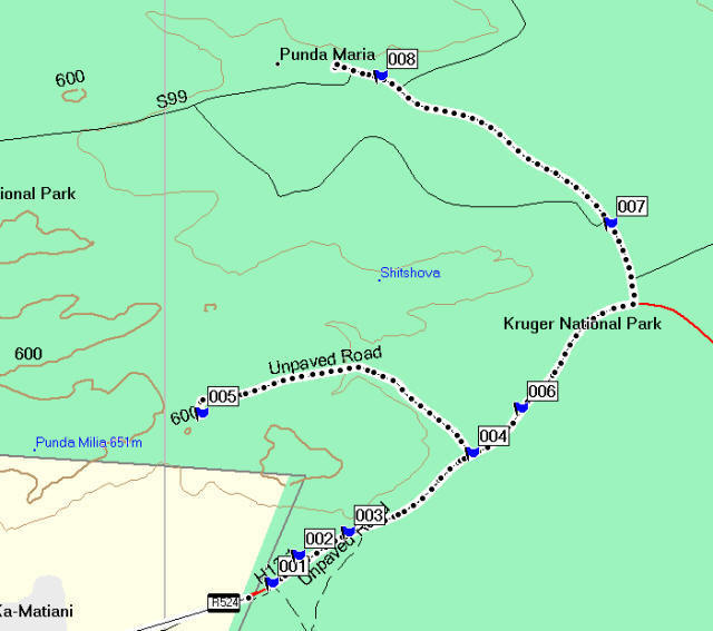 Kruger National Park Map With Camps Kruger National Park Punda