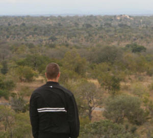 Gareth Roocroft researching in the Kruger Park